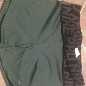 Size Large, Green Nike Pro Spandex